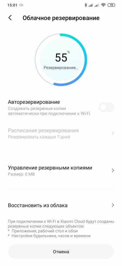 Скриншот_31 (Облачное резервирование - Процесс 55%)