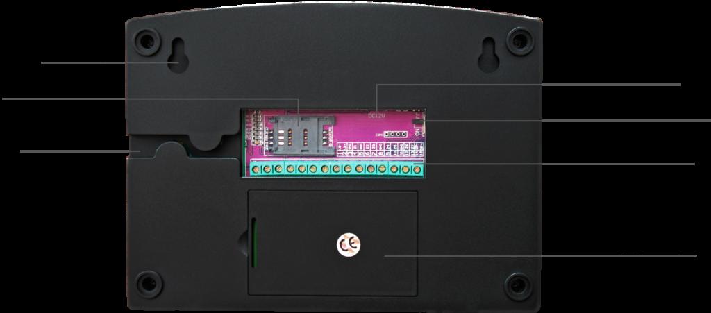 Инструкция GSM сигнализации SH-063G - Задняя панель системного блока