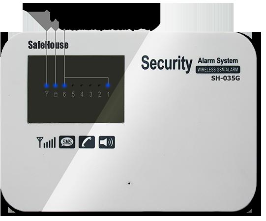 Инструкция GSM сигнализации SH-035G - Передняя панель системного блока