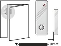 Инструкция GSM сигнализации - установка датчика открытия