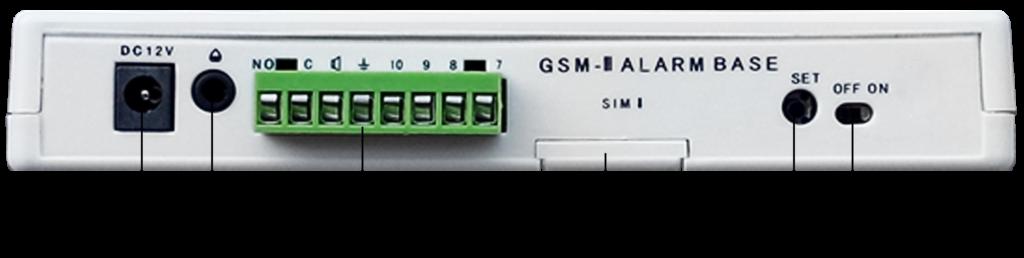 Инструкция GSM сигнализации SH-033G/ru - Тыльная сторона системного блока