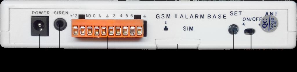 Инструкция GSM сигнализации SH-031G/2 - Тыльная сторона системного блока