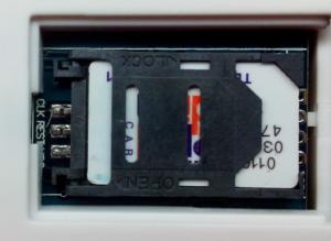 Инструкция GSM сигнализации SH-031G/2 - Слот SIM-карты